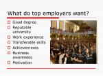what do top employers want