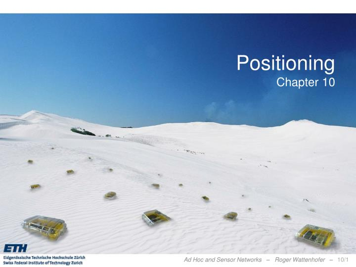 Positioning chapter 10