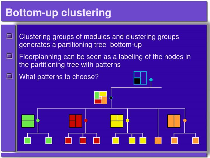 Bottom-up clustering