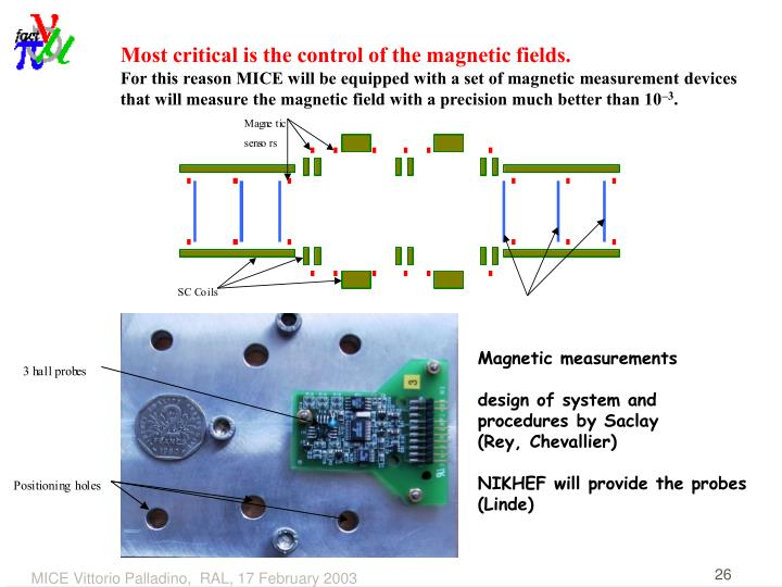 Most critical is the control of the magnetic fields.