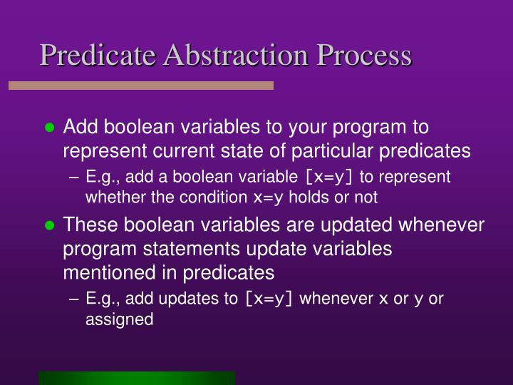 Predicate Abstraction Process