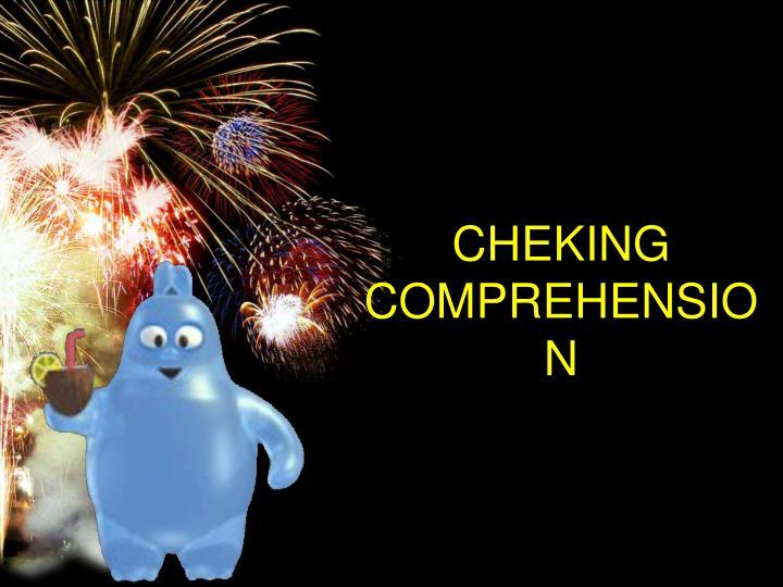CHEKING COMPREHENSION