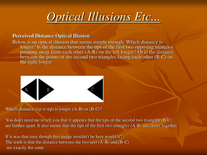 Optical Illusions Etc...