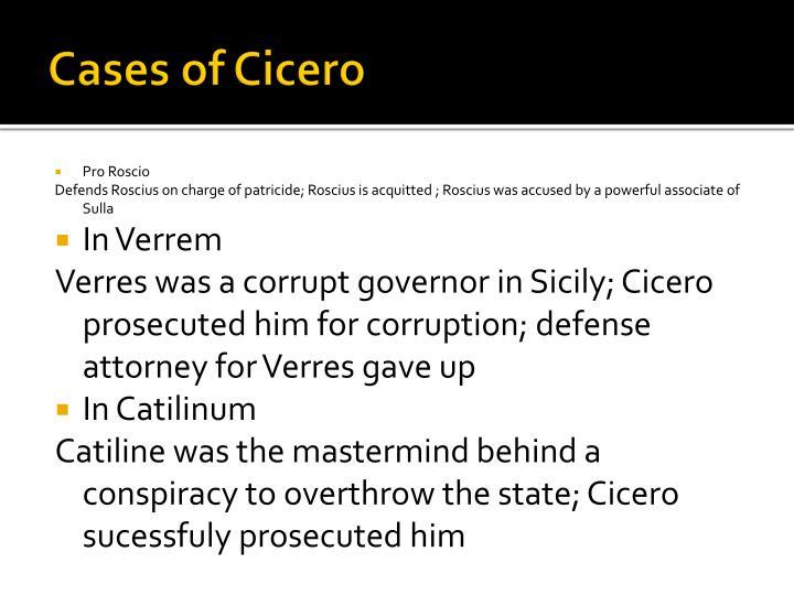 Cases of Cicero