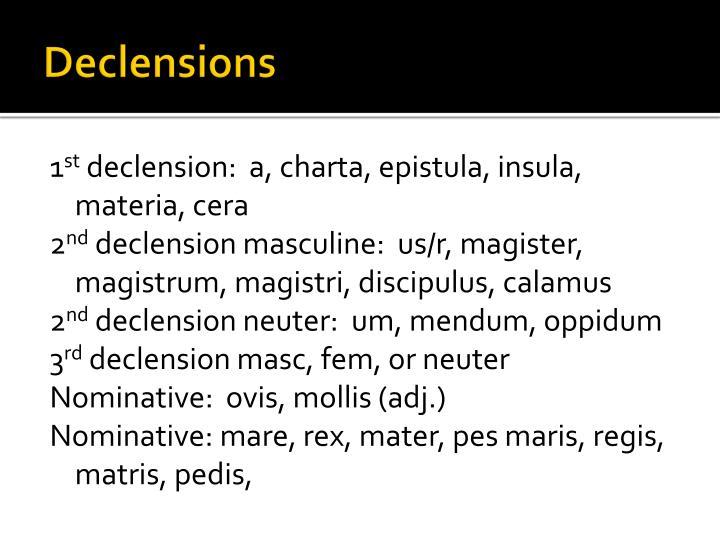 Declensions