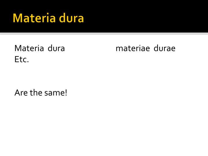 Materia dura