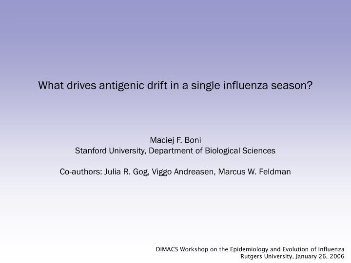 what drives antigenic drift in a single influenza season