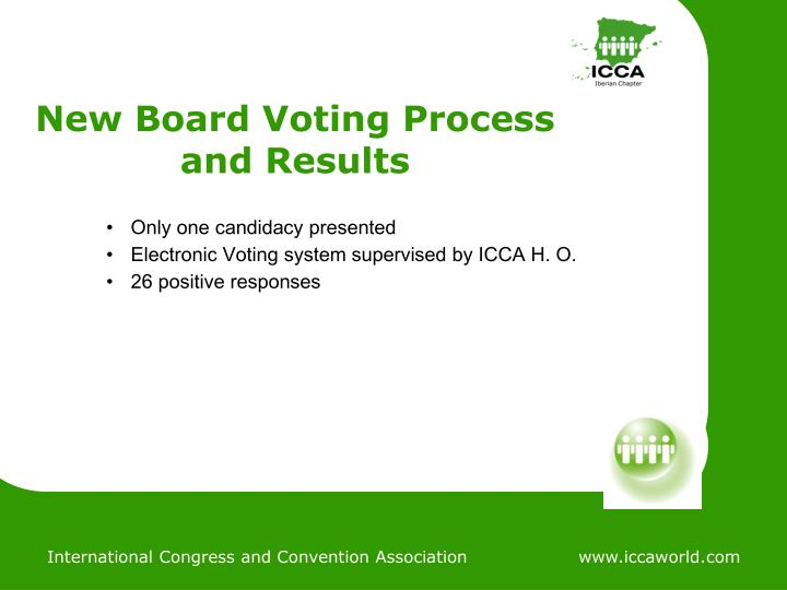 New Board Voting Process and Results