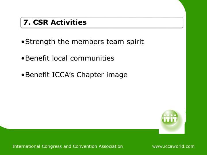 7. CSR