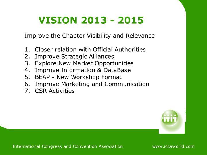 VISION 2013 - 2015