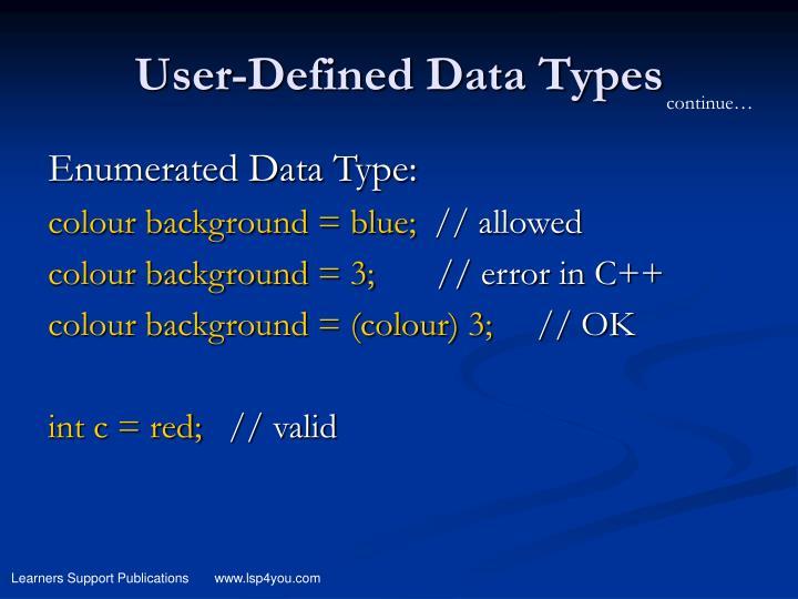 Data Type Definition