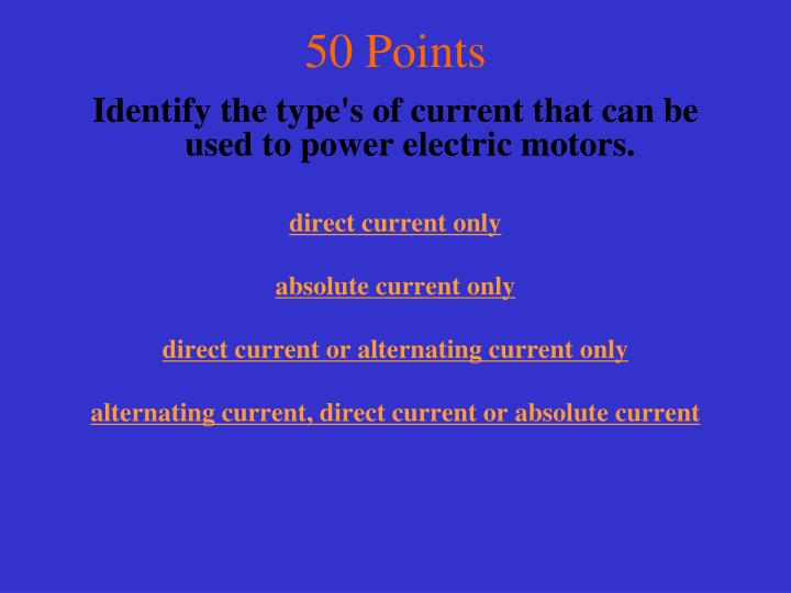 50 Points