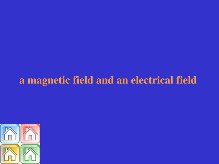 a magnetic field and an electrical field