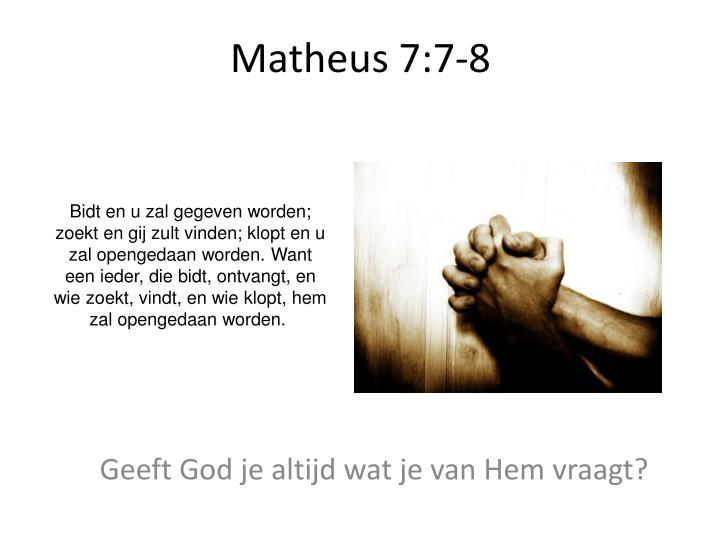 Matheus 7:7-8