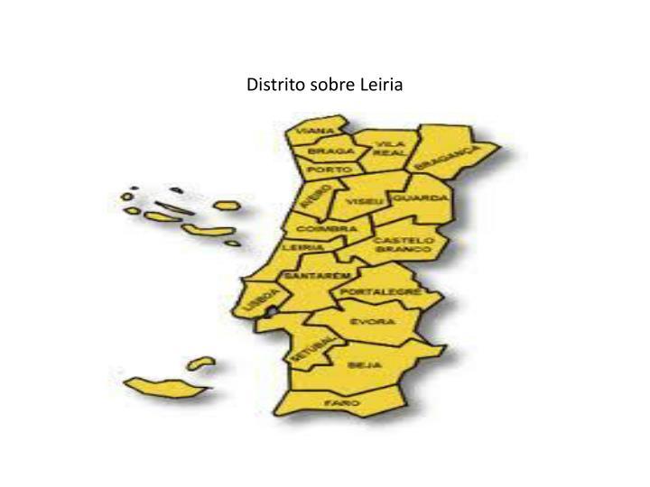Distrito sobre Leiria