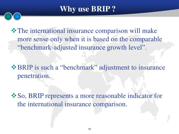 Why use BRIP ?