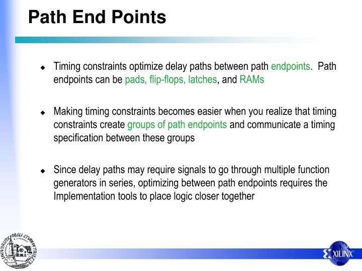 Path End Points