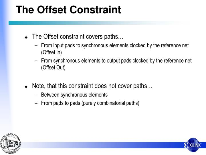The Offset Constraint