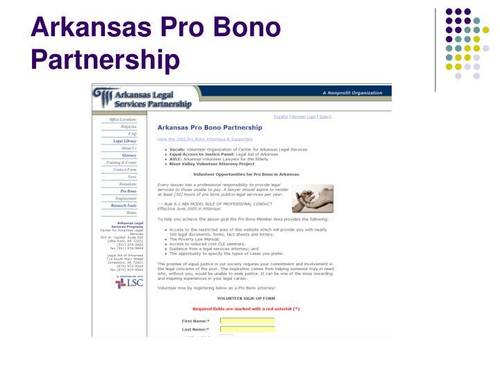 Arkansas Pro Bono Partnership