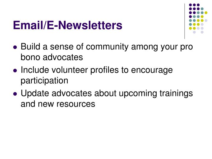 Email/E-Newsletters