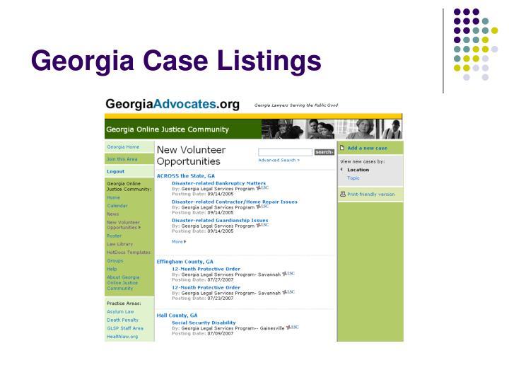 Georgia Case Listings