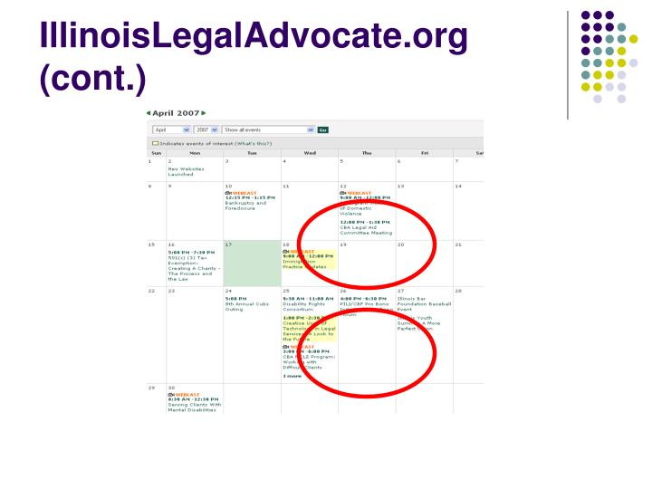 IllinoisLegalAdvocate.org (cont.)