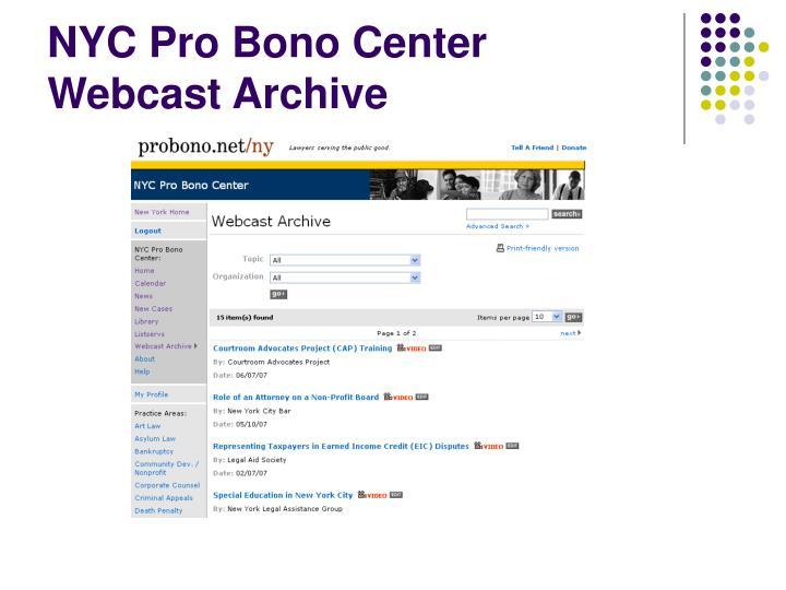 NYC Pro Bono Center