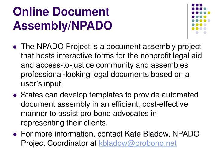 Online Document Assembly/NPADO