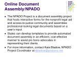 online document assembly npado