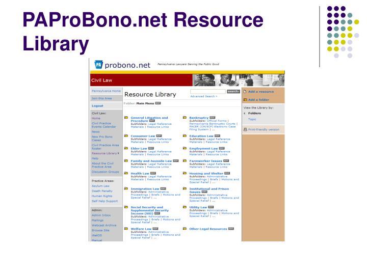 PAProBono.net Resource Library