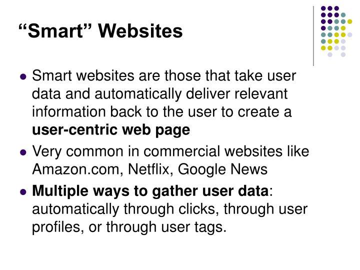 """""""Smart"""" Websites"""