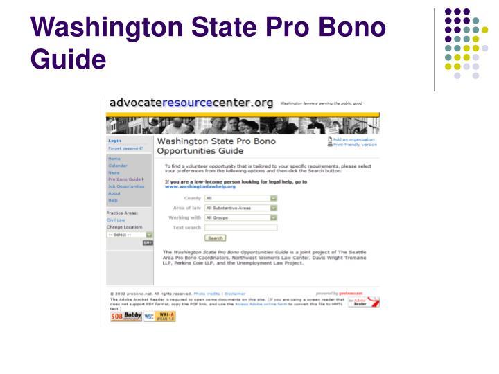 Washington State Pro Bono Guide