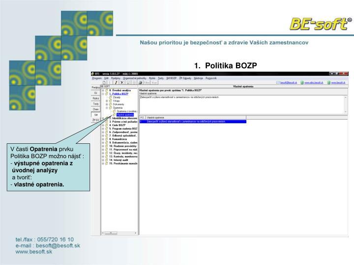 1.  Politika BOZP