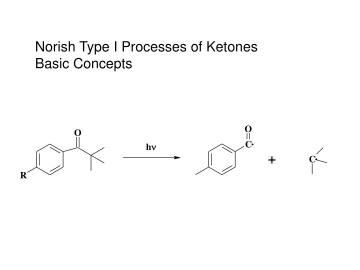 Norish Type I Processes of Ketones Basic Concepts