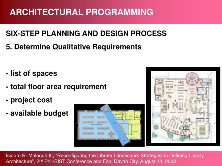 ARCHITECTURAL PROGRAMMING