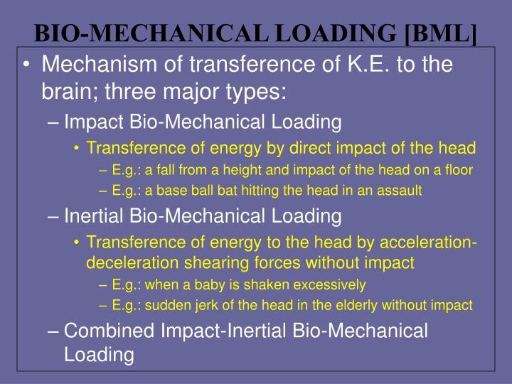 BIO-MECHANICAL LOADING [BML]
