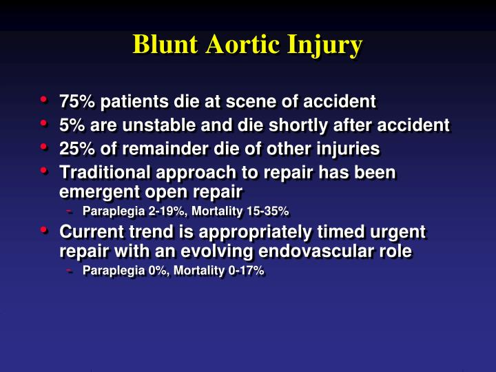Blunt aortic injury
