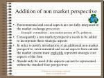 addition of non market perspective