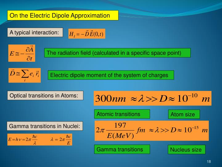 On the Electric Dipole Approximation