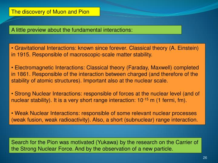 The discovery of Muon and Pion