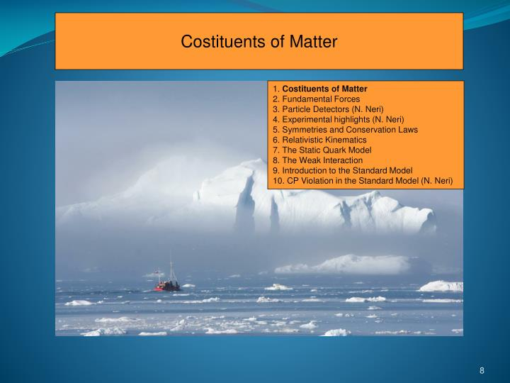Costituents of Matter