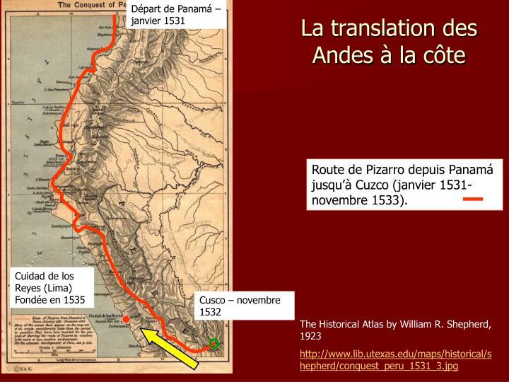 Départ de Panamá – janvier 1531
