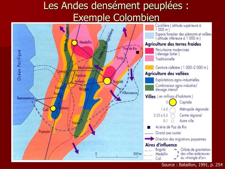 Les Andes densément peuplées :