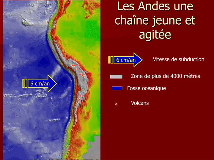 Les Andes une chaîne jeune et agitée