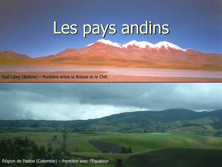 Les pays andins