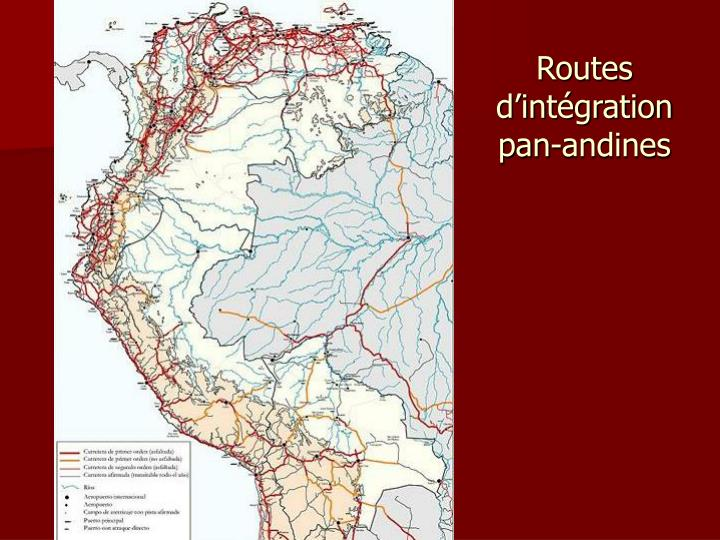 Routes d'intégration pan-andines