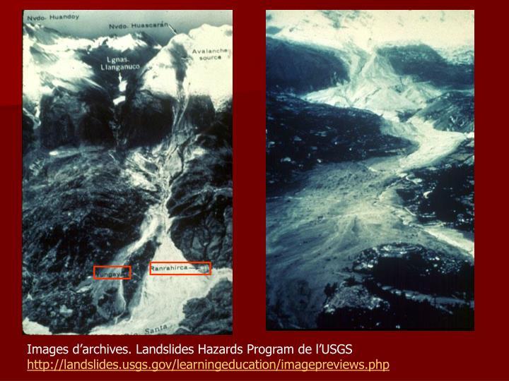 Images d'archives. Landslides Hazards Program de l'USGS