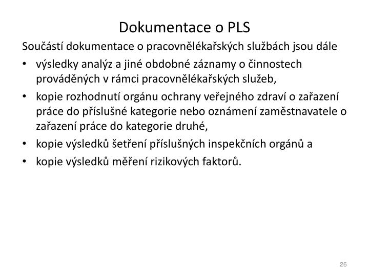 Dokumentace o PLS
