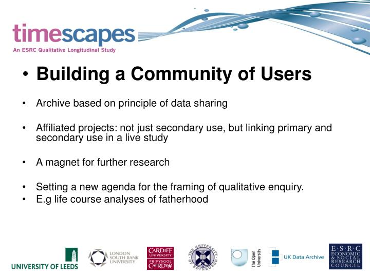 Building a Community of Users