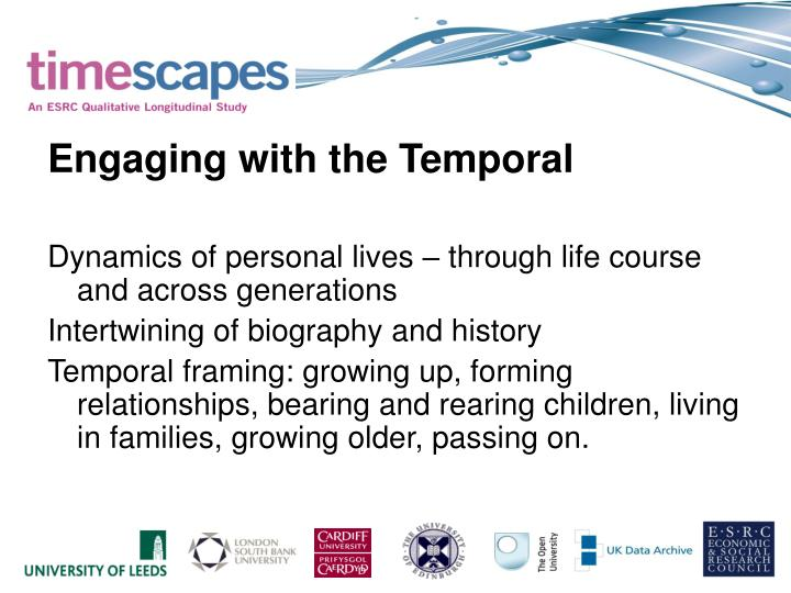 Engaging with the Temporal